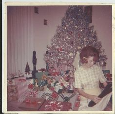 Aluminum Tree- I actually have one of these! My parent's first Christmas tree in the USA. Tina