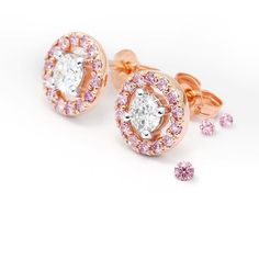 """""""Ring-a-ring-a-rosy..."""" These rose gold earrings are the most darling earrings we've seen in... maybe forever! White diamonds sitting so pretty within rings of Argyle Pink diamonds. 28 in total! What treasures! 💕  #argylepinkdiamonds  #ninasjewellery  #ninassayslove"""