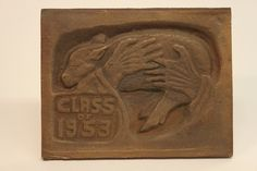 Class of 1953 bronze time capsule cover Class Design, Time Capsule, Bronze, Display, Personalized Items, Cover, Floor Space, Billboard