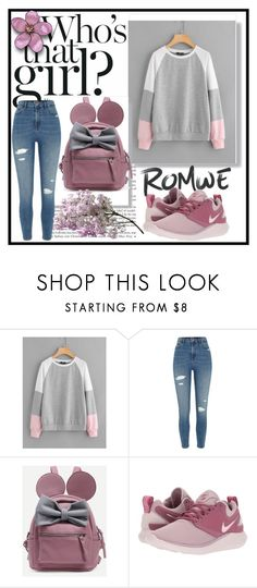 """""""Cut And Sew Raglan Sleeve Heathered Pullover"""" by inkainka96 ❤ liked on Polyvore featuring River Island and NIKE"""
