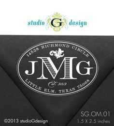 1.5 X 2.5    Personalized Return Address Stamp    by studioGdesigns, $30.95
