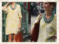 Chunky jewelry- great way to dress up cover ups for shore excursions