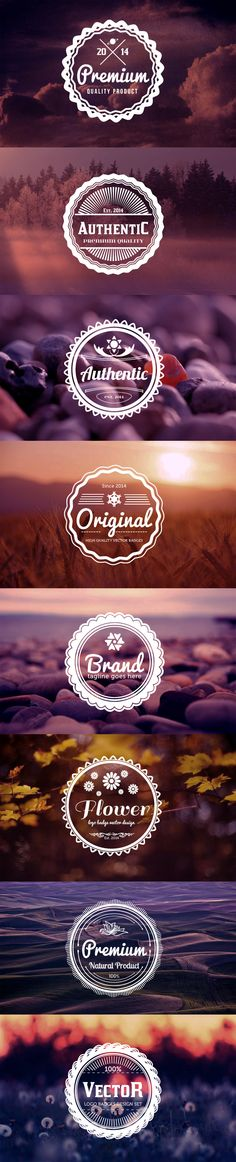 Vintage Logo Badges by merci dsgn, via Behance