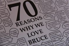 70th Birthday Gift Reasons Why They Love Recipient From 70 Different People By SometimesCreative