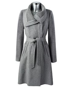 Light Grey Knit Coat.     The details on this are gorgeous.
