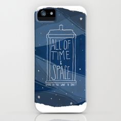 November's Doctor Who Special can't come soon enough! (This would kind of be an awesome tattoo, but I think starting with this iphone case might be the best first step.) :: All Of Time And Space iPhone Case by Nan Lawson