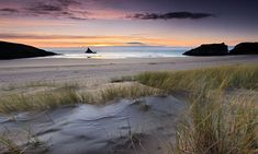 Broad Haven South - Winter Sunrise, Church Rock, Pembrokeshire, Wales, UK - from The Guardian's guide to the top 10 walks in Pembrokeshire