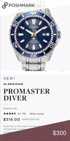 Citizen Promaster Diver LNIB MAKE OFFER Brand New worn twice! Make me an offer! Citizen Accessories Watches