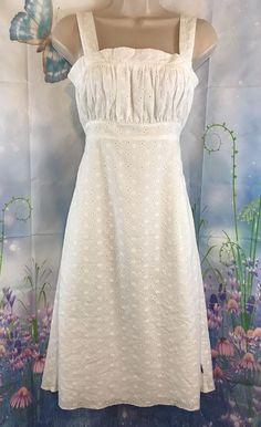 bba3bc051d Womens Tommy Hilfiger White Eyelet Sundress Size Small Petite | eBay Petite  Sundresses, Skirts For