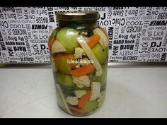 Reteta Gogonele si conopida in saramura - YouTube Preserves, Pickles, Cucumber, Mason Jars, Oatmeal, Cooking, Breakfast, Youtube, Recipes