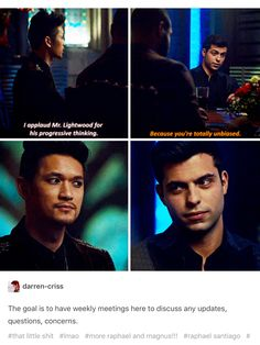 Shadowhunters  hes not being biased hes standing by his bf