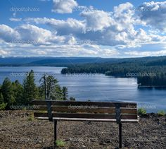Park Bench Overlooking Payette Lake, McCall, Idaho