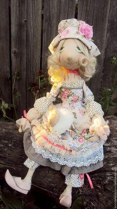 Купить Интерьерная кукла .Пастушка - бежевый, интерьерная кукла, интерьерная игрушка, текстильная кукла