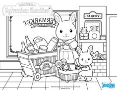 Sylvanian Families Coloring Pages Family Coloring Pages, House Colouring Pages, Cute Coloring Pages, Free Coloring, Coloring Sheets, Adult Coloring, Coloring Books, Kids Coloring, Sylvanian Families