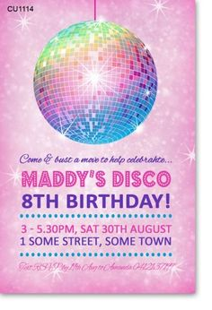 Free printable disco party invitations templates 2017 family day cu1114 girls disco party birthday invitation filmwisefo Choice Image