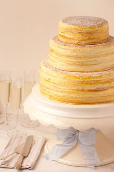 The best cake in the world! Mille Crepe Cake Lady M Cake Boutique 41 East Street New York, NY 10075 Cakes To Make, How To Make Cake, Crepes, Wedding Sweets, Wedding Cakes, Crepe Cake, Mille Crepe, Cake Trends, Beautiful Cakes