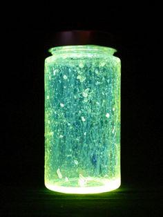 Knicklichter im Glas