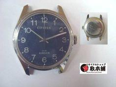 希少青文字盤CITIZENKINDERCK 02アンティークシチズン手巻 時計 Watch citizen ¥3500yen 〆05月04日