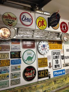 1962 Chevy C-10 grill Garage Signs, Garage Tools, Garage Art, Man Cave Garage, Plate Wall Decor, Plates On Wall, Birch Tree Decor, Pub Interior, Garage Studio