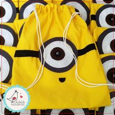 Minion Birthday, Minion Party, Minion Bag, Black Roses Wallpaper, Felt Crafts, Diy And Crafts, Monster Backpack, Felt Toys, Kids Bags