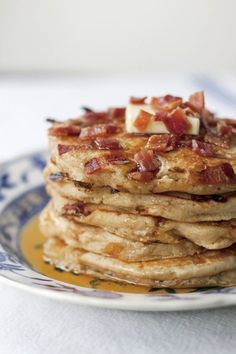 maple bacon pancakes / a thousand threads
