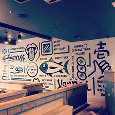 Erik Marinovich Mural for Ichi Sushi in San Francisco.