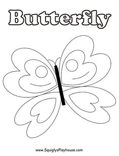 Free Printable Animals Butterfly Coloring Pages For Firstgrade