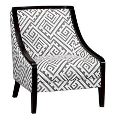 CHAIRS FOR THE ONE ON ONE ROOMS. 2 PER ROOM.  Charcoal Transitional Accent Chair - Kuka Collection