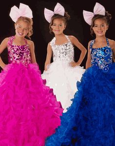 Girls Pageant Dress 42618S - Sugar Royal Blue Gown - Size 8