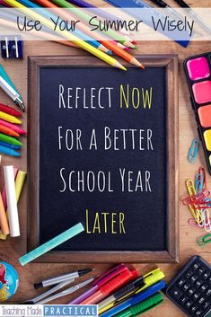 Teachers – Summer Reflections Can Make Next School Year Better Middle School Science, School Fun, School Stuff, Upper Elementary, Elementary Schools, Elementary Teaching, Teacher Summer, 5th Grade Teachers, Lesson Planner