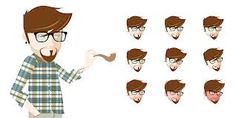 hipster character - Google Search