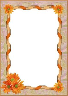 Floral Border, Border Design, Diy And Crafts, Projects To Try, Colorful, Wall Art, School, Frame, Backgrounds
