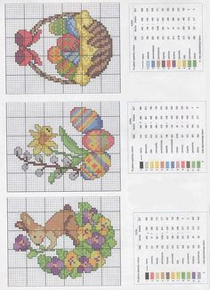 Easter cross stitch schemes to get ready for the holiday