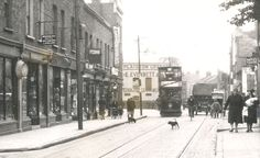 Plaistow High Street (near Upper Road). East End London, Old London, Newham, Uk Images, London Transport, Old Street, The Old Days, Historical Pictures, Beautiful Buildings