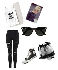 """""""Lazy day"""" by welchjacqueline ❤ liked on Polyvore featuring Topshop, Converse, Carianne Moore, Ray-Ban, women's clothing, women's fashion, women, female, woman and misses"""