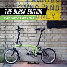 Wish to own this eye-catching Brompton? Here's your chance to! Brompton's new Special Black Edition features five main frame colours aside from the full matte black version. Choose from Black, White, Lime Green, Berry Crush and Lagoon Blue. The Special Black Edition will come in H6L, M6L and S6L (with mudguards and no rear rack). It will retail at S$2850 with standard or extended seatpost, and at S$2900 with telescopic seatpost. #MightyVelo #Brompton #BlackEdition