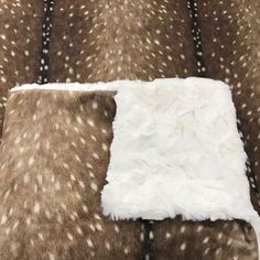 Custom Double Minky Blanket; boho deer hide design paired with the softest snuggle fur makes this blanket a must have for the sweetest baby snuggles❤️