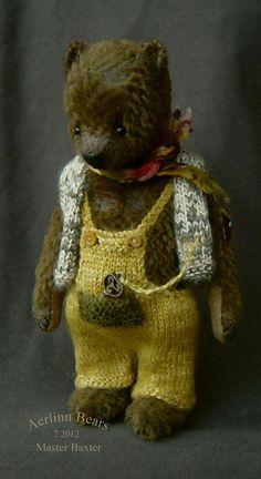 "Master Baxter, 6"" OOAK Teddy Bear by Aerlinn Bears."