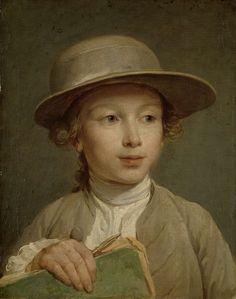 Jongen met een tekenboek, Nicolas Bernard Lépicié, ca. 1772