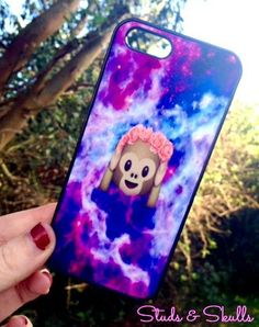 Iphone 6 Phone Case Emoji Monkey Galaxy Print by StudsandSkulls http://minivideocam.com/product-category/camera-cases/