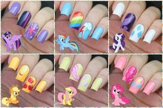 My Nail Art Journal: My Little Pony Nails Inspired - Mon Petit poney - nail art pouliche
