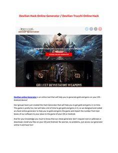 Devilian hack online generator