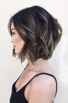 Totally Trendy Layered Bob Hairstyles for 2018 ★ See more: http://lovehairstyles.com/trendy-layered-bob-hairstyles/