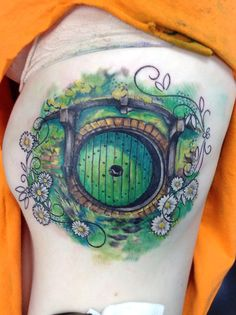 Hobbit tattoo - Bag End door (ChiTown Tattoo and Body Piercing)