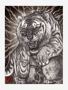 I did this tiger drawing for upcoming art exhibition together with sensei next year October. I am truly honored 🙏🏻This is done… Tattoo Sketches, Tattoo Drawings, Cool Drawings, Tiger Tattoo Design, Tattoo Designs, Tiger Design, Frases Para Tattoo, Body Art Tattoos, Sleeve Tattoos