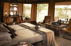 Manly space. Looks like an African safari tent.