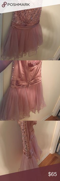 Blush Pink homecoming dress Strapless blush Pink homecoming dress Dresses Prom
