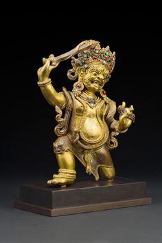 Achala Tibet 17th/ 18th century Bronze, precious stones The immovable. Meditational diety