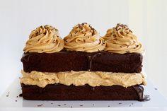 Chocolate Pumpkin Cake with Pumpkin Whipped Cream and Chocolate Ganache