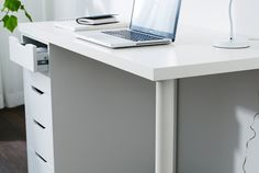 IKEA VIKA system  With VIKA, you create your own desk or table. Choose a table top and then the legs or other type of support. Go for ones that are adjustable – or not. Ones with storage – or not. Ideal in home offices, VIKA is just as useful for dining and hobbies. And you can easily place VIKA tables together, if you want a really large surface or a corner feature. Complement with EKBY shelves and brackets for even more possibilities.